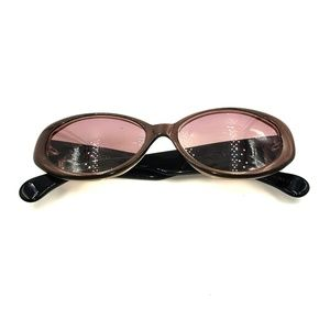 Vintage Escada Black Brown Cat-Eye Sunglasses